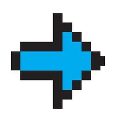 Blue arrow digital vector image vector image