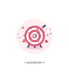 Flat background with target vector image
