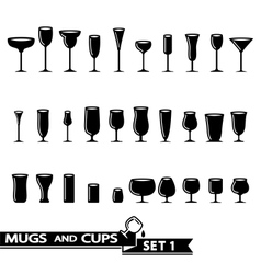 Glass collection vector image