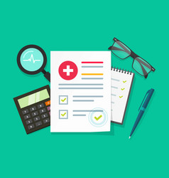 medical research report flat vector image