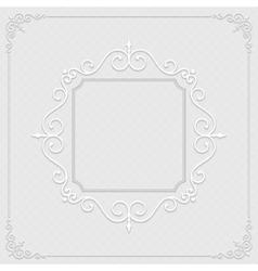 Vintage ornament from cut paper and shadow vector image vector image