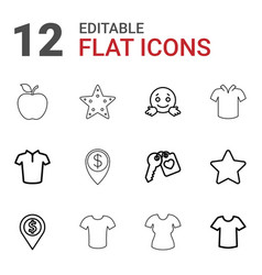 12 rounded icons vector