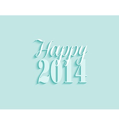 2014 Happy New Year greeting card background vector