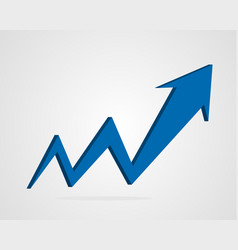 3d arrow business graph vector image