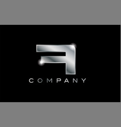 A silver metal letter company design logo vector