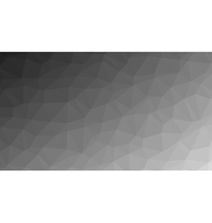 Abstract monochrome low poly background vector image