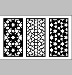 Arabic islamic decorative wall screen panel vector