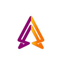 arrow up abstract business company logo vector image