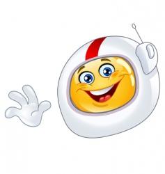 astronaut emoticon vector image vector image