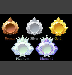 awards medals gold silver bronze vector image