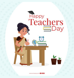 banner design of happy teachers day vector image