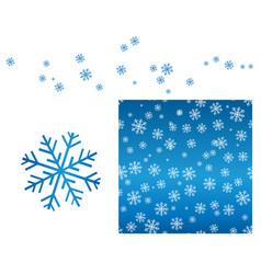 blue snowflake pattern vector image