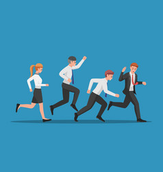 Business team run follow leader vector