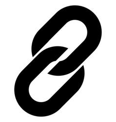 chain link simbol chain symbol vector image