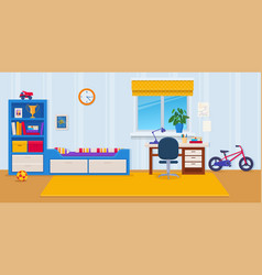 childrens room with toys and vector image