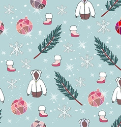 Christmas pattern design vector image