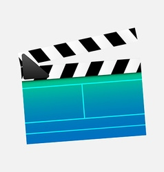 Clapperboard cinema vector image