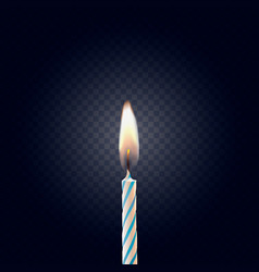 colored birthday candle isolated on a dark backgro vector image