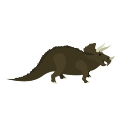 Colorful cartoon with dinosaur triceratops vector