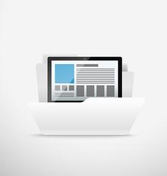 Computer interface folder Open folder illus vector