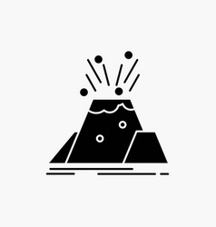 Disaster eruption volcano alert safety glyph icon vector