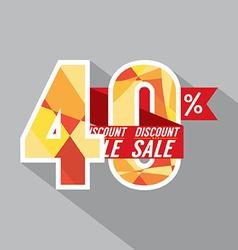 Discount 40 Percent Off vector image