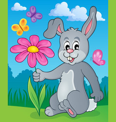 Easter bunny thematic image 2 vector