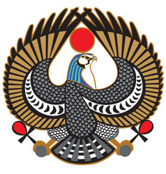 Falcon symbol of horus vector