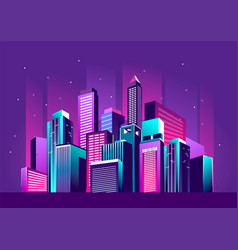 festive neon city vector image