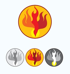 Fire Holyspirit vector image