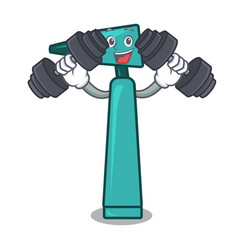 Fitness otoscope character cartoon style vector