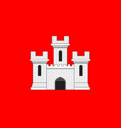 Flag of die in drome of auvergne-rhone-alpes vector