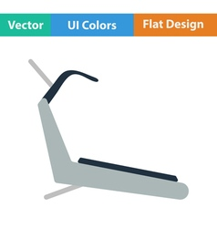 Flat design icon of Treadmill vector image