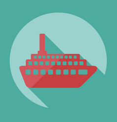 Flat modern design with shadow icon ship vector