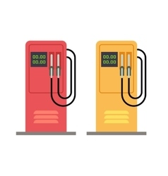 Gas station pump with gasoline petrol flat vector