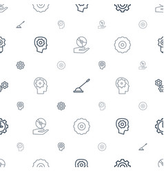 Gear icons pattern seamless white background vector