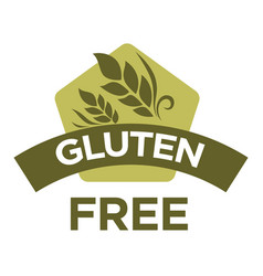 gluten free healthy dietetic product icon vector image