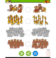 Greater less or equal educational task vector