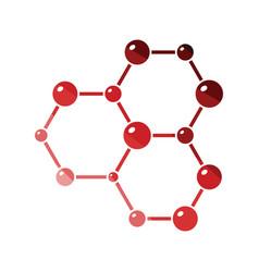 Icon chemistry hexa connection atoms vector