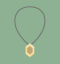 Icon in flat design fashion necklace with vector