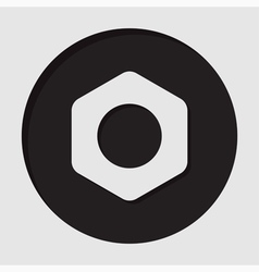 Information icon - nut vector