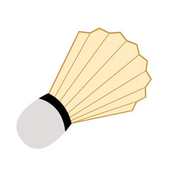 isolated badminton shuttlecock icon vector image
