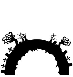 Isolated evil cementery vector