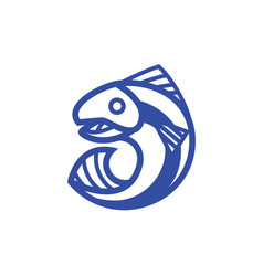 jumping fish out of the water vector image