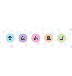 Laptop icons vector