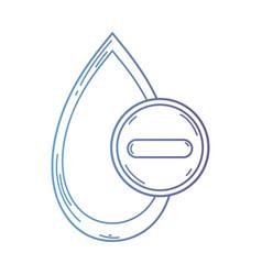 line blood drop to medical donation symbol vector image