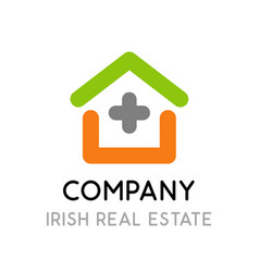 logo for real estate company in ireland - symbol vector image