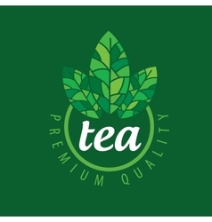 Logo tea vector