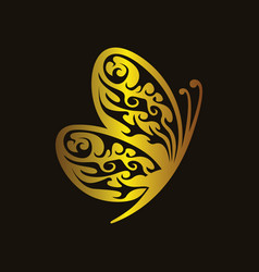 luxury butterfly vector image