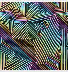 maze seamless pattern with grunge effect vector image